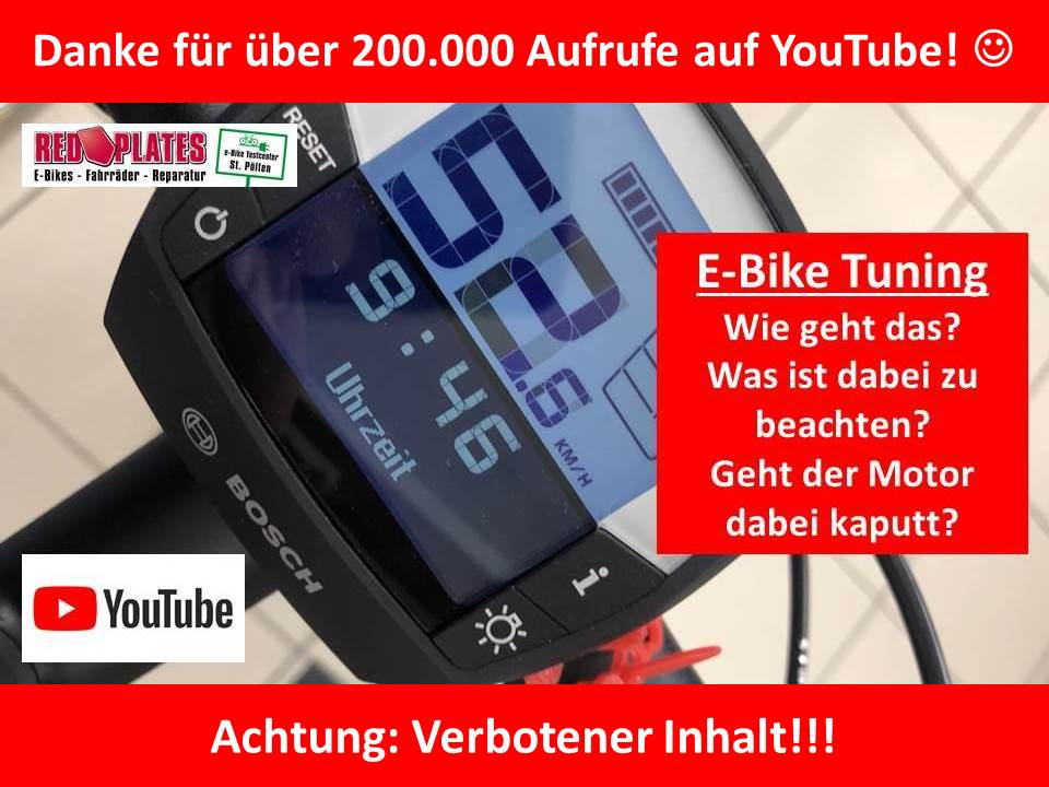 E-Bike Tuning Video 200t Aufrufe auf YouTube